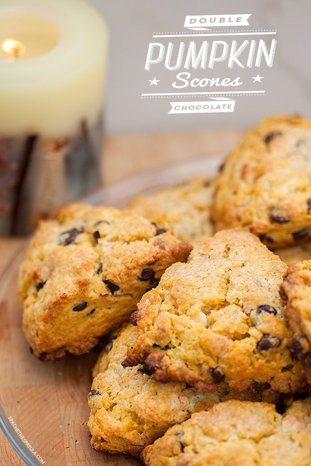 Double Chocolate Pumpkin Scones | spachethespatula.com #recipe