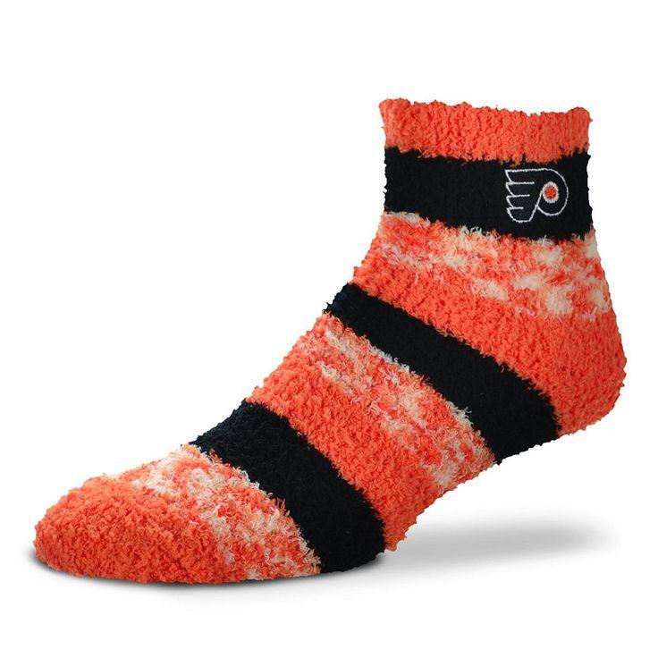 Women's For Bare Feet Philadelphia Flyers Pro Stripe Slipper Socks, Ovrfl Oth