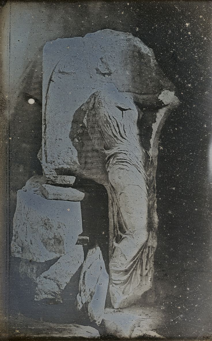 Sculptural Relief of Victory from the Temple of Victory, the Acropolis, Athens, 1842, Daguerreotype.