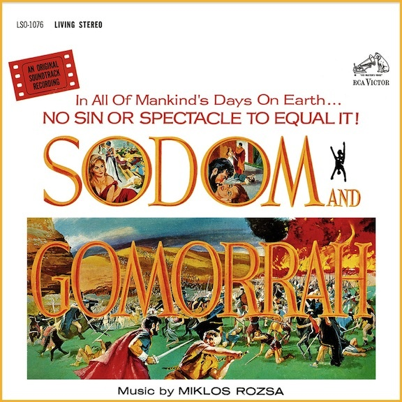 """""""Sodom And Gomorrah"""" (1963, RCA). Music from the movie"""