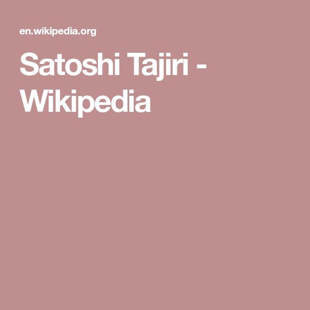 Satoshi Tajiri - Wikipedia