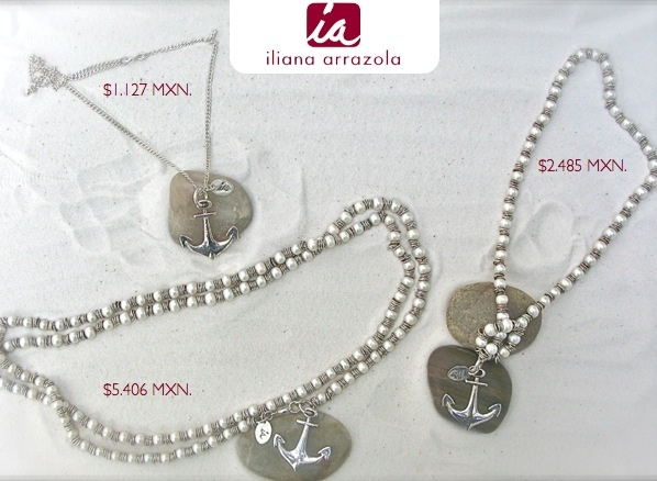 Necklaces with silver anchors 925 and hand-knotted pearls.: Silver Anchors, Lff Design, Hands Knot Pearls, Dishes Ect, Iliana Arrazola, Arrazola Jewelry, Anchors 925, Www Facebook Com Lffdesign, Bling Jewelry