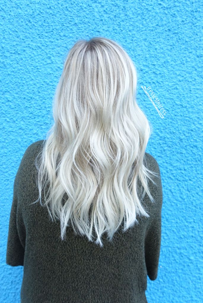 40 Blonde Balayage Looks: Platinum White Ash Blonde Balayage (With Images)