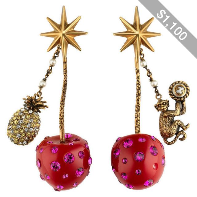 Gucci Cherry Pendent Earrings