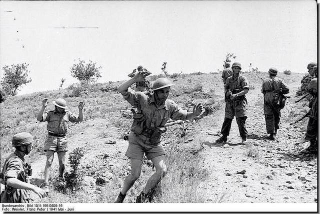 Bruits soldier surender to germans, Crete 1941