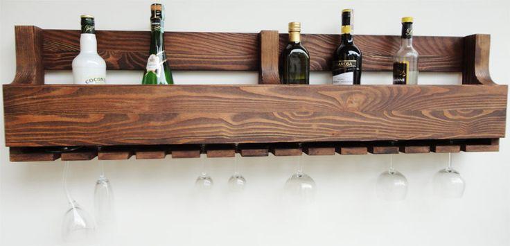 Półka na wino z drewna litego PDM-10a
