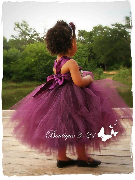 Plum Flower Girl Dress Eggplant Flower Girl Dress by Boutique321