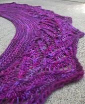 Ravelry: Purple Mountain Majesties Lace Shawlette pattern by Pam Jemelian