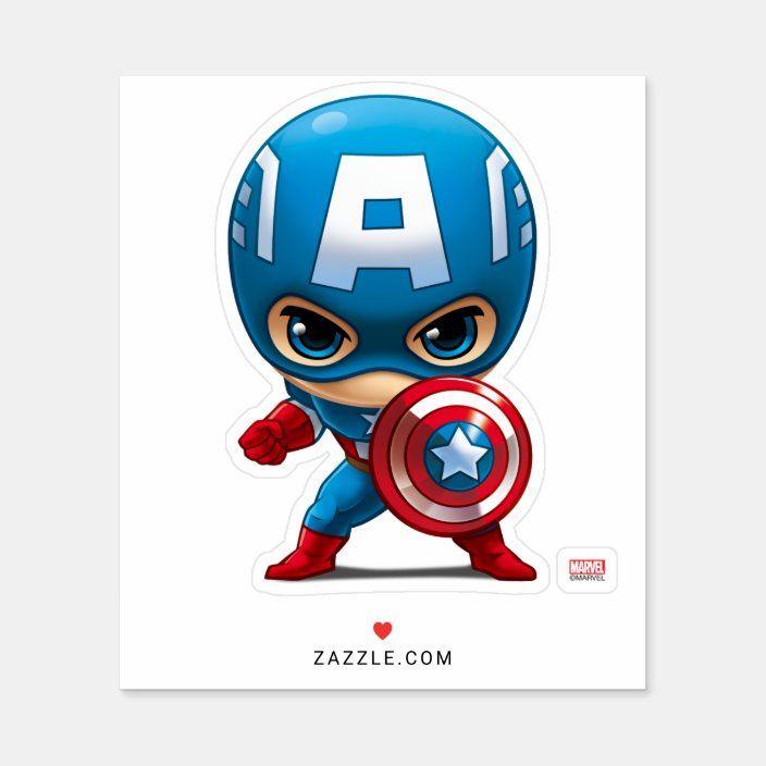 Captain America Stylized Art Sticker Zazzle Com In 2021 Sticker Art Captain America Vinyl Paintings