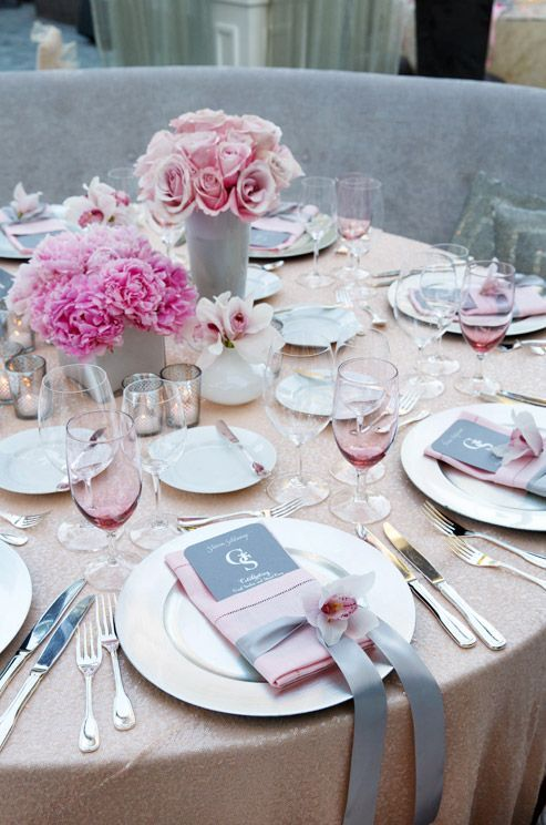 Pink and Gray Quinceanera Decoration Ideas | Quinceanera Ideas | http://www.quinceanera.com/decoration-and-themes-for-quince/?utm_source=pinterest&utm_medium=social&utm_campaign=category-decoration-and-themes-for-quince