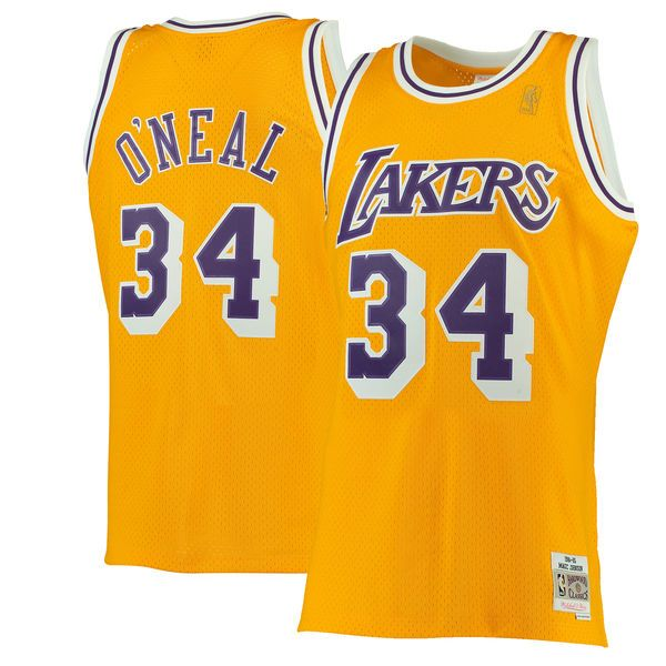 Shaquille O'Neal Los Angeles Lakers Mitchell & Ness 1996-97 Hardwood Classics Swingman Jersey - Gold - $129.99
