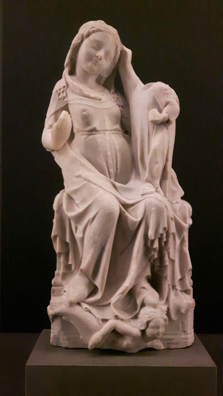 Madonna che calpesta una sirena; produzione francese 1425 1450.