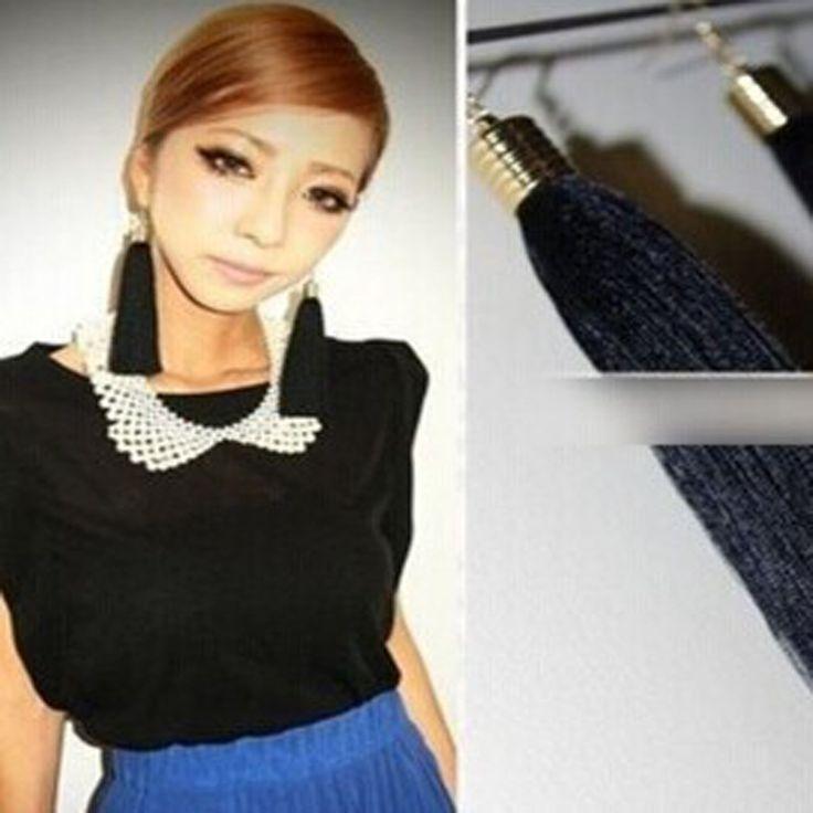 New Fashion jewelry tassel dancing drop earring mix color  gift for women girl E2290