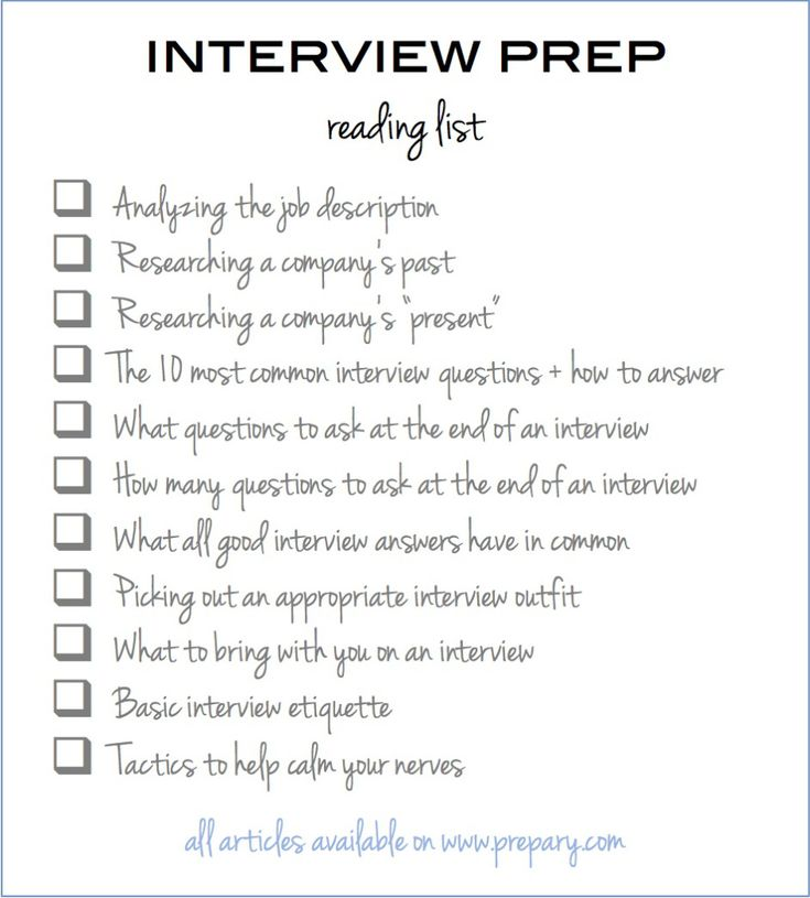 How To Prepare For An Interview: Use This Easy Checklist  Interview Questions