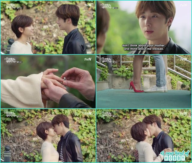 ji won & Ha WOn kiss after they both exchange rings  - Cinderella and Four Knights - Episode 16 Finale - Review (Eng Sub)