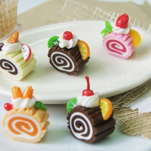 polymer clay food charms | Polymer Clay Beads for Food and Beaded Jewelry 10 pcs