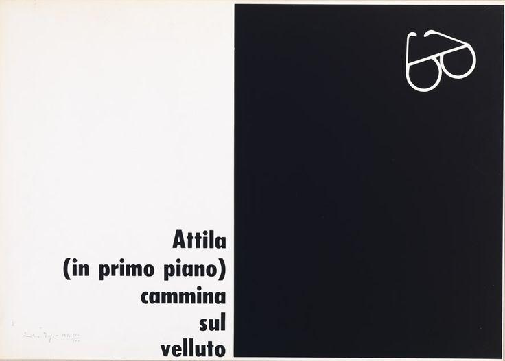 Emilio Isgrò - Attila, 1966.  Mart, Archivio Tullia Denza  www. mart.tn.it/collezioni