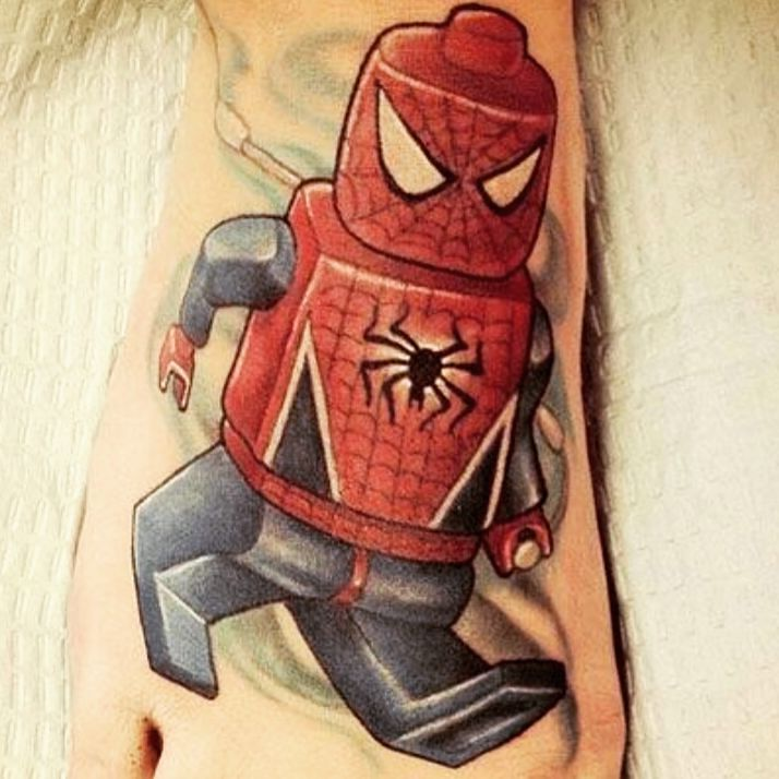 #tattoo #tattoos #inked #ink #inklife #skin_tattoos #inkmagazine #tatuaje #insta_tattoo #tatu #tatuaggio #tatuaggi #art #followme #inks #instamood #spiderman #lego #spidermantattoo #legostagram #legopassion by tattoo_words_