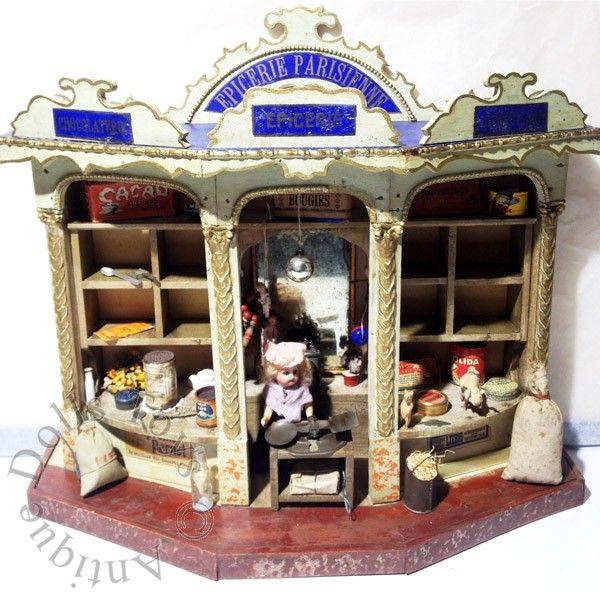 241 best epicerie ancienne images on pinterest antique dolls august 2014 and christmas villages. Black Bedroom Furniture Sets. Home Design Ideas