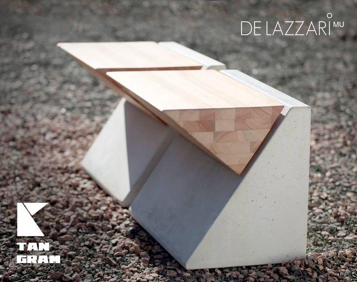 #urban #seating #design De Lazzari - mobiliario urbano - banco tangram