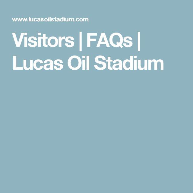 Visitors | FAQs | Lucas Oil Stadium