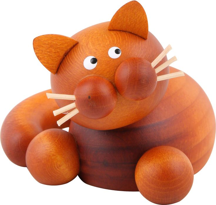 Katze Charlie Schmusekatze (5,5cm) von Drechslerei Martin -€ 20,90