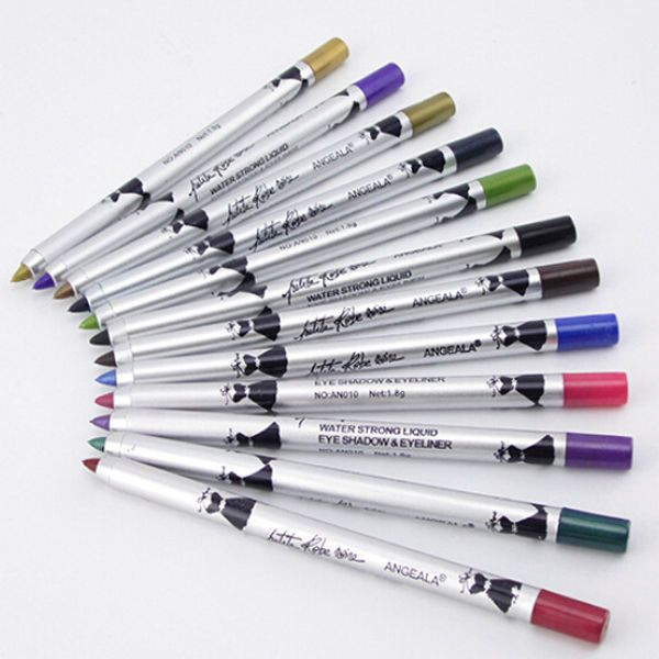 12Color Women Matte Makeup Waterproof Gel Eyeliner Pencil Pen Liner Eye Cosmetic