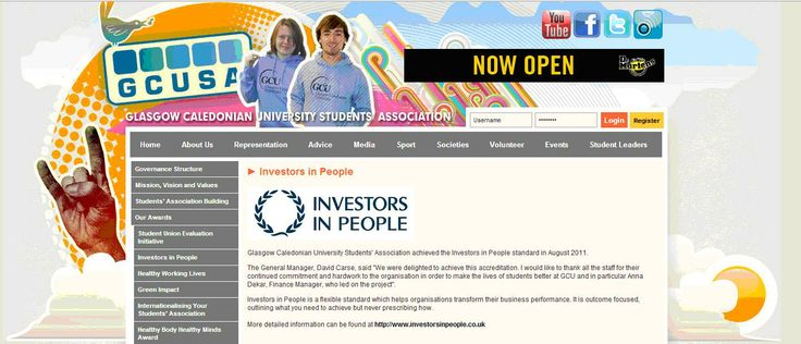 Glasgow Caledonian University Students Association and Investors in People