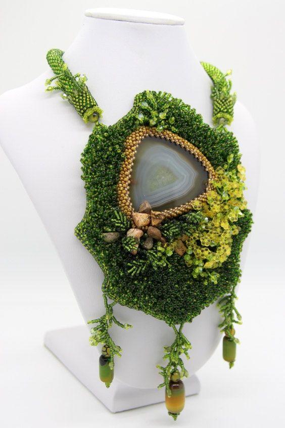 Necklace Forest Lake by jewellrybynatalia on Etsy