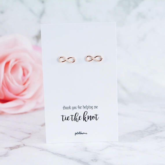 Rose Gold Gold Silver Infinity Earrings Bridesmaid Gift