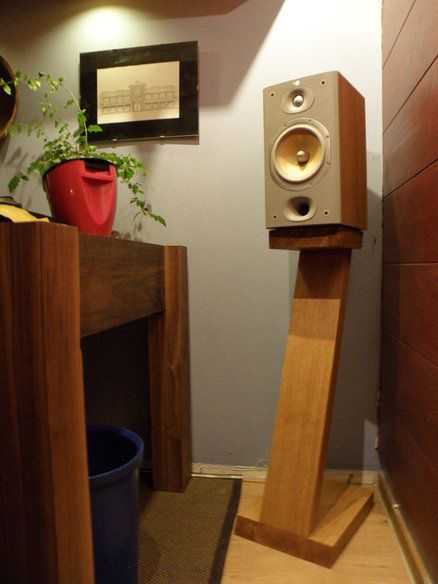 diy Wood Bookshelf Speaker Stand