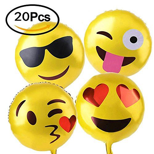 SMILE PARTY 18″ Yellow facial expressions mylar party balloons. The product is designed for party,wedding,birthday,festival decoration. Specifications: Color:yellow Size: 18 inches NOTE: 1: Pleas inflate the air slowly; 2: Thermal expansion,do not filled with gas fully 3: Get away from fire Special emoji facial expressions design for party,wedding,birthday,festival decoration 5 Different Emoji Universe Designs,4 Of …