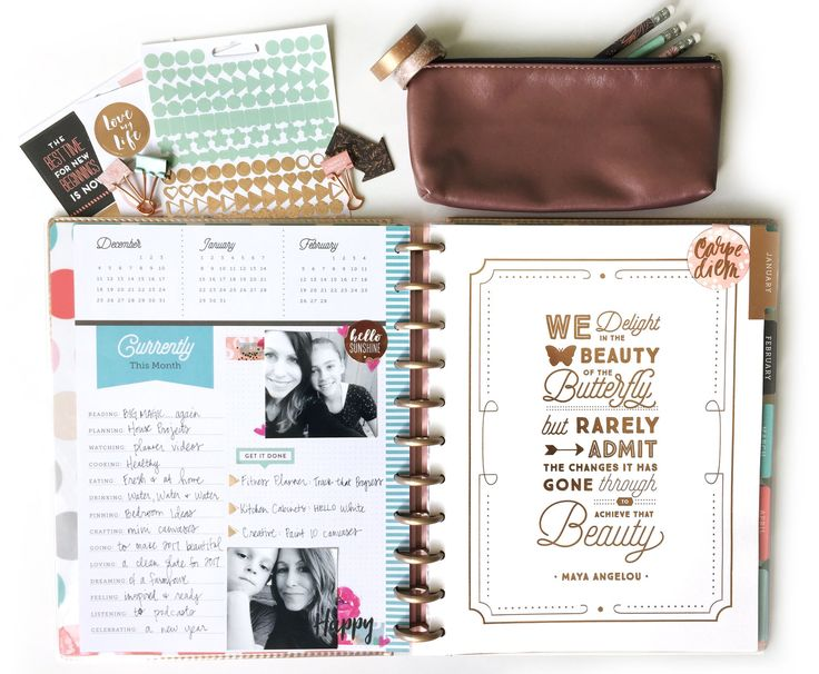 ring in the New Year w/ Rose Gold Happy Planner® products by mambi Design Team member Jen Randall   me & my BIG ideas