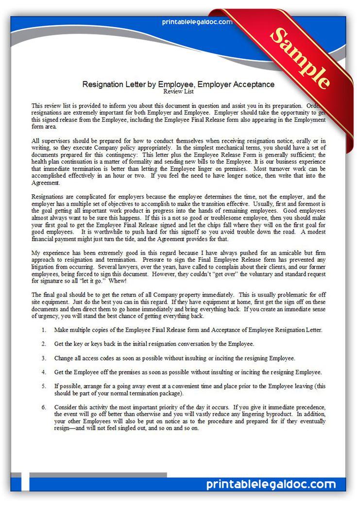 Employment Release Agreement. Employment Separation Agreement Form ...