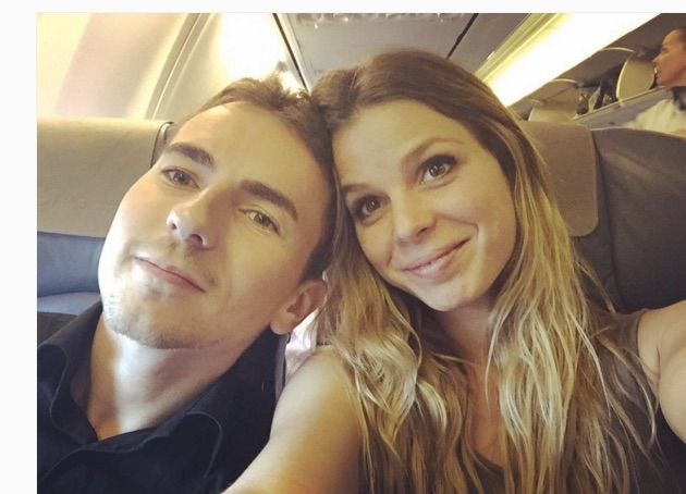 Nuria Tomas and Jorge Lorenzo