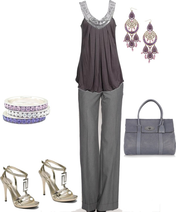 """purple top"" by yiannab on Polyvore"