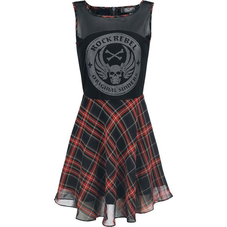 Checked Skater Dress von Rock Rebel by EMP