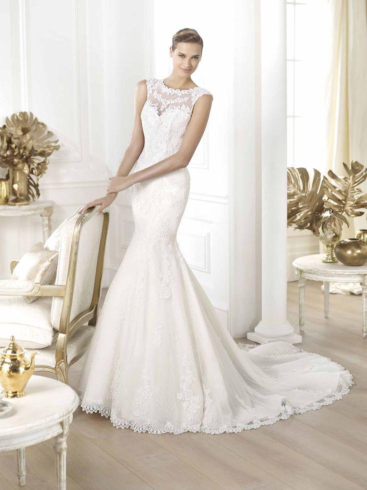 Landel esküvői ruha Pronovias kollekció http://mobile.lamariee.hu/eskuvoi-ruha/pronovias-2014/landel