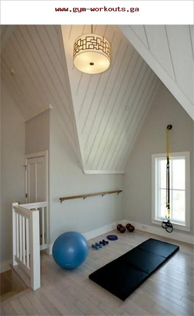 peaceful home gym with barre can t see my garage ever looking like rh pinterest com Peaceful Places New Home