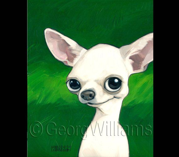 Pet Caricature Portrait Print Chico Animal Paintings Dog