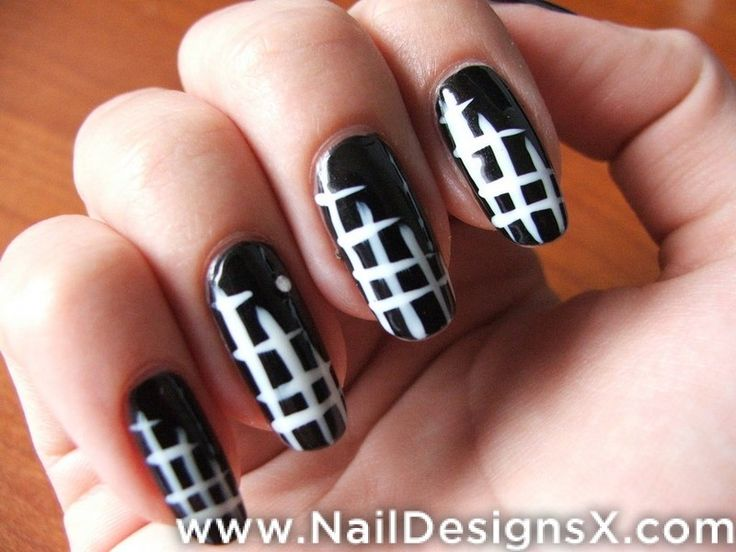 79 best black white nail design art images on pinterest white easy and cool nail designs easy and cool nail designs for short nails easy and cool nail polish designs easy and cool nail art designs prinsesfo Choice Image