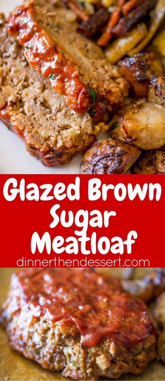 Glazed Brown Sugar Meatloaf mit spritzigem Ketchup und zerstoßenen Saltines ist die einfachste und würzigste Variante eines klassischen Hackbratens, den Sie jemals machen werden!