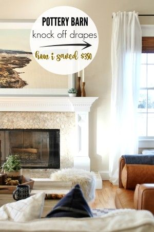 Pottery Barn Knock Off Drapes-How I saved over $350