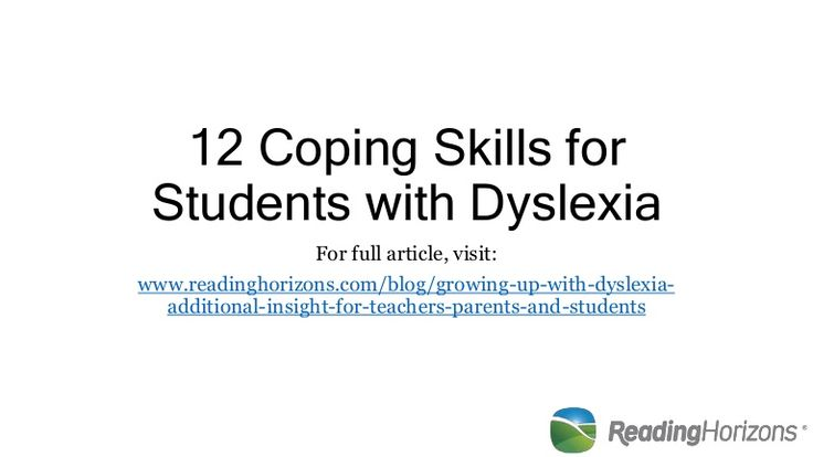 Adult coping dyslexia skill me?