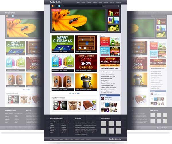 80 plantillas web en formato psd gratuitas.