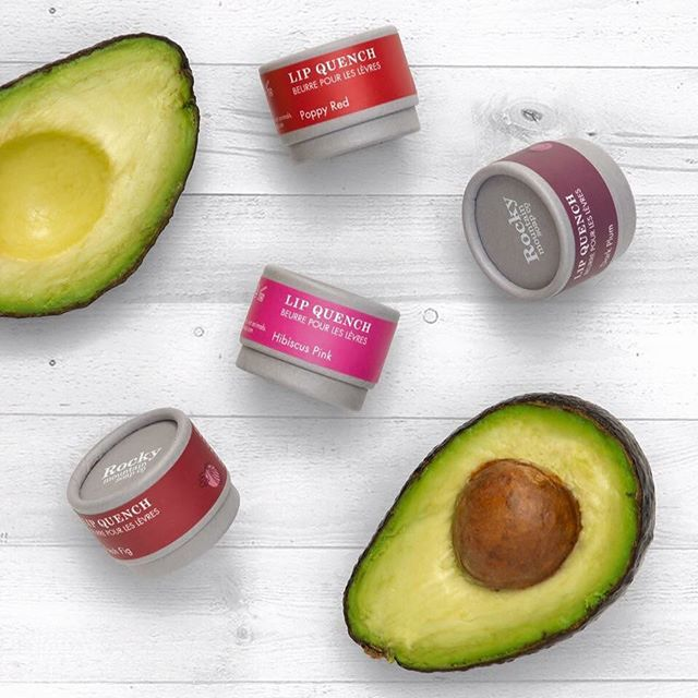 Our new product.... New Natural Lip Quenches launching July 28th!  Handcrafted in small batches with rich organic avocado, coconut oil, and beeswax. Tinted with all natural mica and iron oxides in four beautiful shades.  Be the first to experience our beautiful new Lip Quench in Biodegradable Paper Pots! Simply see the link in our profile.   #kissesfromRocky  #rockymountainsoap #lipquench #avocado #tintedlipbutter #naturalingredients #coconutoil #beeswax #mica #smallbatches #bblogger…