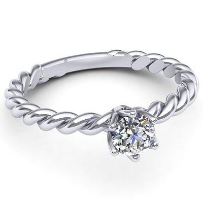 Inel logodna F72ADI * Piatra principala: 1 x diamant, dimensiune: ~4.00mm, greutate: 0.25ct , culoare: G, claritate: VS2, forma: round * Gramaj: ~2.10gr