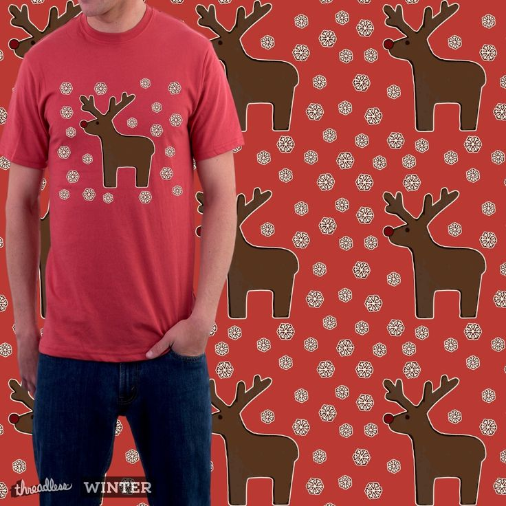 """Check out my new design submission """"Christmas deer!"""" on @threadless"""
