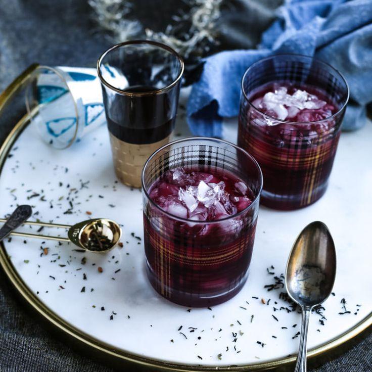 Blueberry Chai Cream Cocktail