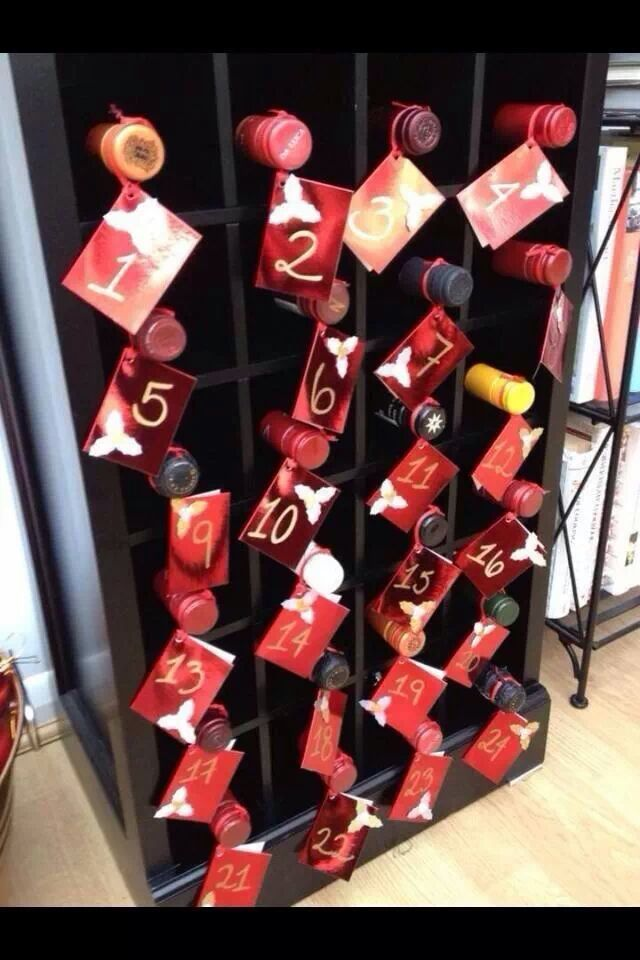 The grown-ups advent calendar. Definitely want to do with different types of alcohol most likely smaller bottles though...